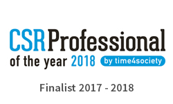 WaW - Finalist CSR Professional of the year 2018